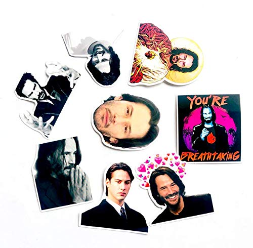 Artistic Keanu Reeves Character Stickers, Skateboard Notebook Luggage Personalized Waterproof Car Stickers 8