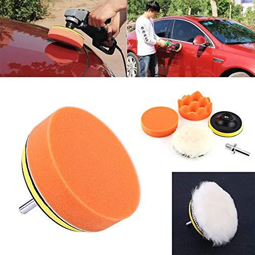 Cosiki Kit de Almohadillas de Pulido para pulir, Almohadillas de Pulido para automóviles Que Aumentan el Brillo, Buena dureza para el Trabajador de Mantenimiento del Conductor del automóvil