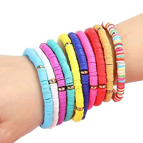 Pulsera de moda pura de 10 colores hermosos del estilo de la playa, joyería de la pulsera, para las mujeres los hombres