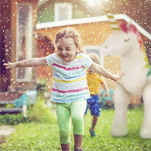 Woodtree Piscina al Aire Inflable del Agua de rociado Almohadilla Juguetes Unicornio de los niños inflables Dinosaurios Elefante Rosa Arcos Iris (Color : 5, Size : 220cm*100cm*160cm)