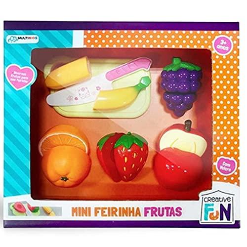 Creative Fun Mini Feirinha Divertida 6 Frutas Com Fecho Adesivo Multikids - BR1111