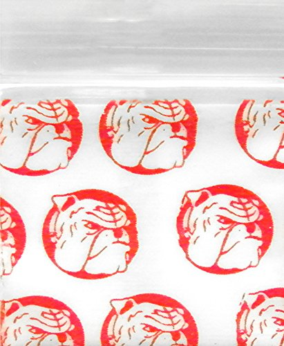 Original Mini Ziplock Reclosable Plastic Bags, Red Dog (1510, 100 Bags)