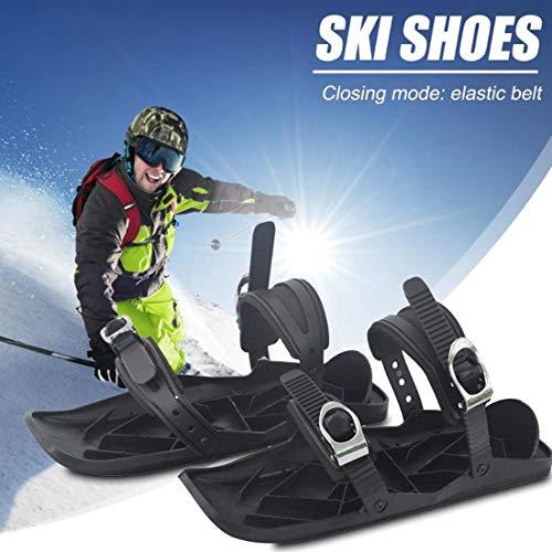 LYRAL Nieuwe Mini Skates voor Sneeuw, Verstelbare Bindings Draagbare Skiën Schoenen, De Korte Skiboard Sneeuwbladen, Outdoor Sportschoenen voor Downhill op en uit de hellingen, Forest Trails