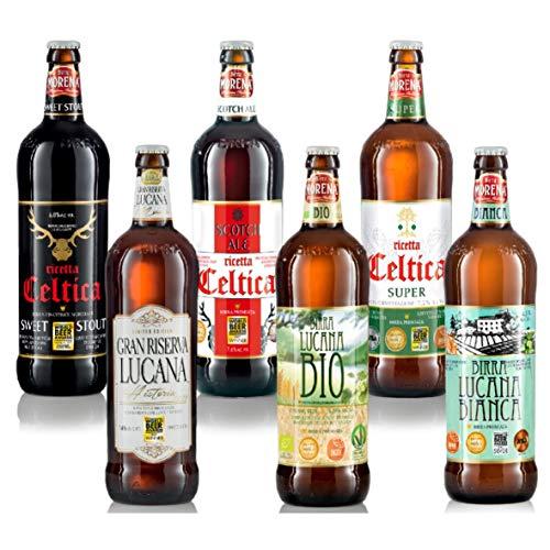 Birra Morena Selezione 6 Craft Beer 75cl (Celtica Sweet Stout, Celtica Super, Celtica Scotch Ale, Gran Riserva, Lucana Bianca, Lucana Bio)