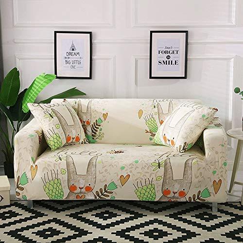 WXQY Funda de sofá elástica con Estampado Floral de Hojas para Sala de Estar, Protector de sofá, Funda de sillón, Funda de sofá de decoración del hogar A24 1 Plaza