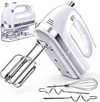 LILPARTNER Hand Mixer Electric, 400w Ultra Power Kitchen Handheld Mixer with 2x5 Speed(Turbo Boost & Automatic Speed),...