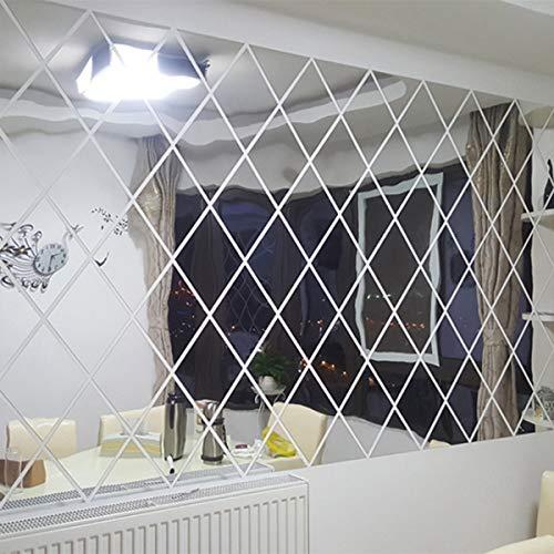 Pegatina de pared de PVC extraíble, espejo 3D pegatinas de espejo autoadhesivas impermeables extraíbles para el hogar, baño, cocina, pegatinas de pared, decoración de cocina