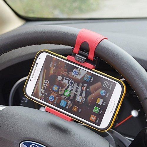 MMOBIEL Universal Handy Lenkrad Lenker Halterung Clip Halter Befestigung Mount für Smartphone Handyhalter KFZ Auto für Smartphones iPhone Samsung etc. mit Max 5,5 Inch / 13,97 cm Größe