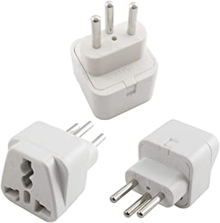 USA to Switzerland Power Adapter Plug, Vsanstar Universal European Travel Adapter Plug Kit for Switerland (Type J, 3 Pack, Grounded) - White Color
