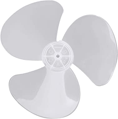 dPois Plastic 3 Leaves Fan Blade Replacement for Standing Pedestal Fan Table Fanner General Accessories White 12 Inch