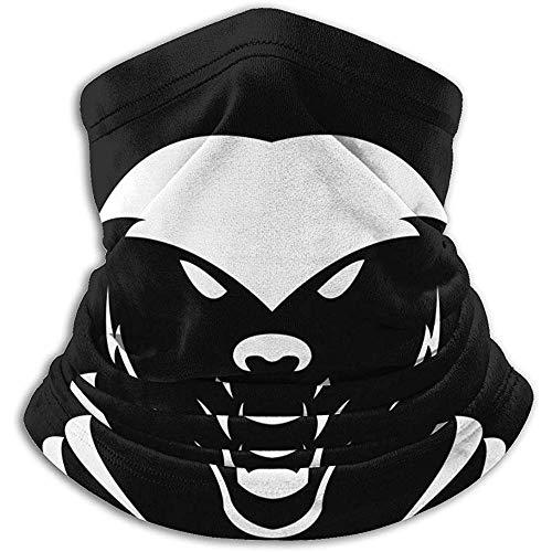 Bklzzjc Fleece Nackenwärmer Gamasche Honigdachs Weiche Mikrofaser Kopfbedeckung Gesicht Schal Maske