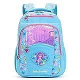 Mermaid Style Kids Toddler Backpack for Girls, Cute Lightweight Kindergarten Elementary School Bookbag