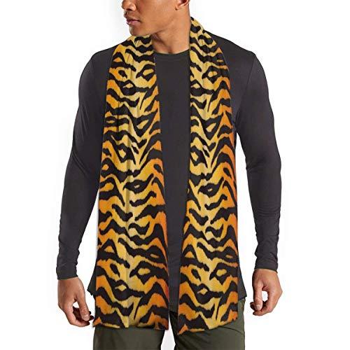 Animal Print Tiger Black Gold Bufanda de invierno para hombre Bufanda de invierno suave Bufanda de algodón...