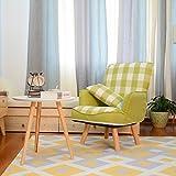 Brilliant firm Sillas Reclinables Chaise Longue divano portatile sedia divano sgabello divano singolo poltrona divano pigro (Color : Green)