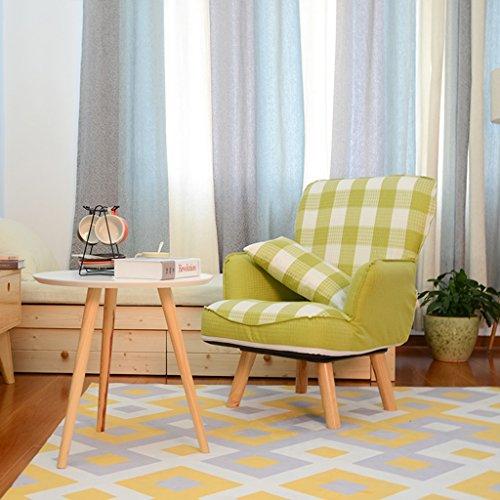 Brilliant firm Deckchairs Chaise Longue canapé Chaise Portable canapé Tabouret Unique canapé paresseux canapé Chaise (Color : Green)