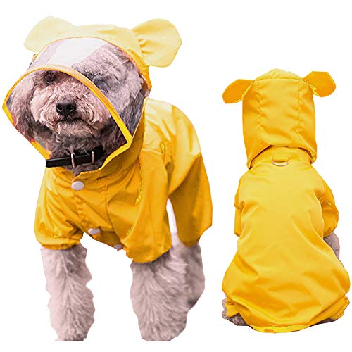 HAPEE Pet Dog Raincoat for Small Dogs | Dog Rain Jacket with Hood