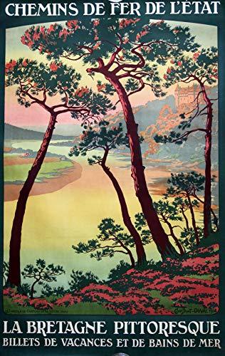 Poster in Bretagne, Malerei, Reproduktion, 50 x 70 cm, Papier, 300 g, verschiedene Formate und Medien möglich.