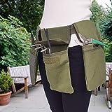 Shine123 Bolsa para cinturón de herramientas de jardinería, delantal de lona con bolsill...