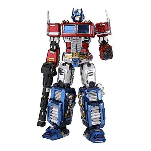 ZJXYYYzj Transformers, Metal 3D Puzzle DIY Modelo Montado Transformers Modelo Optimus Prime Autobot Modelo de Juguete