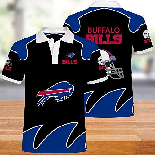 SUSU NFL Camisetas Buffalo Bills Hombres Jerseys del Fútbol Americano Polos para Mujeres Y Hombres Camiseta Aficionados Al Rugby De Fútbol Los Aficionados Al Fútbol Unisex 3XL