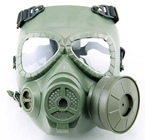 WorldShopping4U CS Militärische Taktische Armee Schweiß Gesichtsschutz Airsoft Paintball Schutzausrüstung Mit M04 Turbo Fan DE