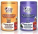 2-Pack, GlucoDown Diabetic Friendly Beverage, Maintain Healthy Blood Sugar (1-Peach Tea & 1-Super Berry Tea)