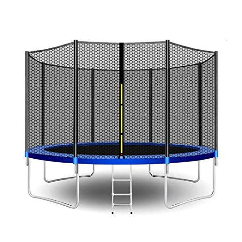 CalmMax Trampolines 12FT 10FT Jump Recreational Trampolines with Enclosure Net - ASTM Approved- Combo Bounce Outdoor Trampoline for Kids Family Happy Time
