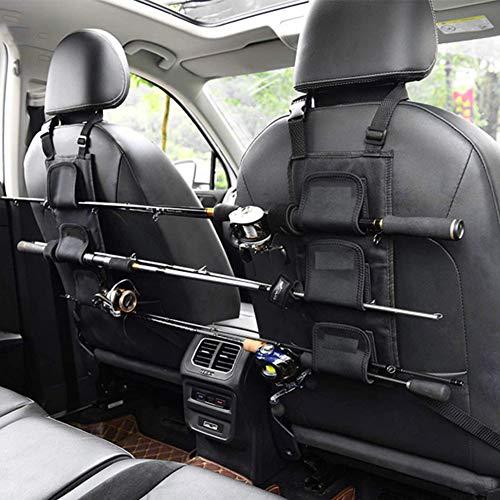 HAIMEN Angelrutenhalter Träger für Fahrzeugrücksitz, Universal-Angelrutenhalter für Fahrzeuge, verstellbares Auto-Angelwerkzeug mit Nylonriemen