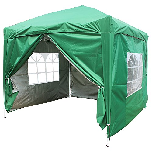 Greenbay Green Heavy Duty Pop-up Gazebo Marquee Canopy with 4 Side Panels and Carrybag - 2m x 2m