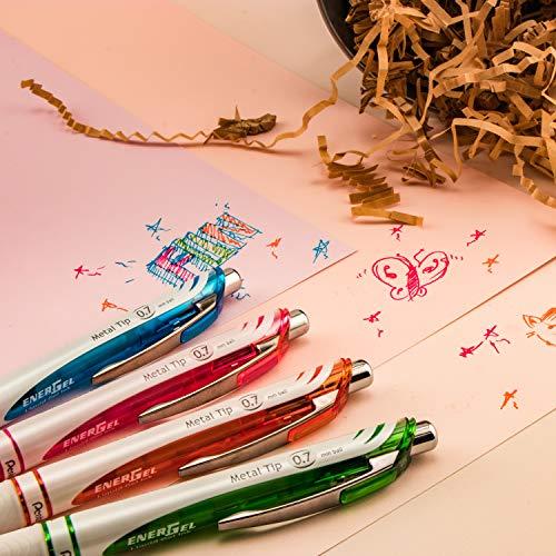 Pentel Pink BCA EnerGel Pearl RTX Gel Pen, 0.5mm, Fine Point, Needle Tip (BLN75WBP2PA) Photo #8