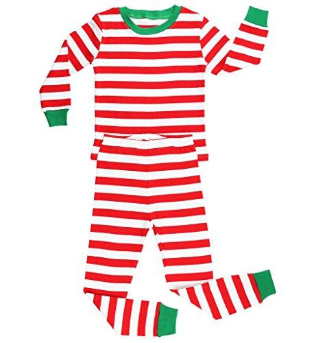 elowel | Pijama Unisexo | 2 Piezas (Top Y Pantalones) |100% Algodon | Ropa De Dormir Ajustada | Tamaño: 4 Años...