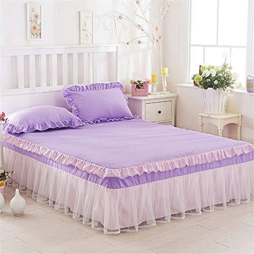 Eenvoudige kant, voor babybed, elastische band, ruches, dekbedovertrek, dubbele rok, lattenrok, lattenbodem.