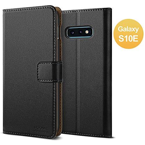 HOOMIL für Samsung S10E Hülle, Samsung Galaxy S10E Hülle, Premium Leder Tasche Flip Handyhülle für Samsung Galaxy S10E Smartphone Hülle (Schwarz)