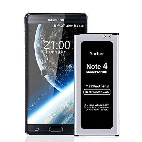 Batería para Samsung Galaxy Note 4, 3220mAh de Alta Capacidad Reemplazo de Ion de Litio Compatible con Original Samsung Note 4 batería (No para S5 Mini)
