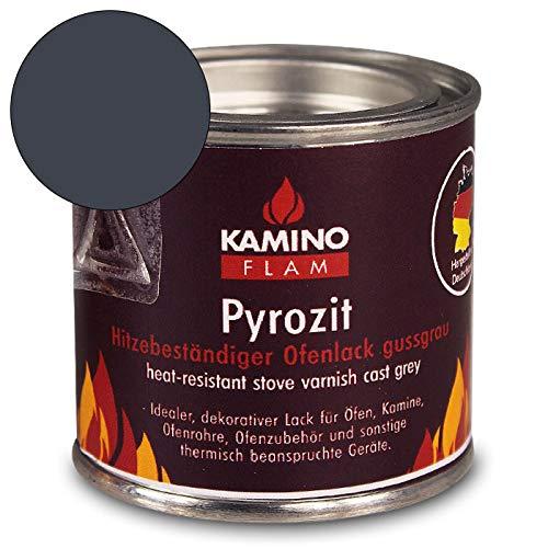Ofenlack 125G - bis 450°C - Ofenfarbe Thermolack Lack Farbe - mit Farbauswahl (gussgrau 125g)
