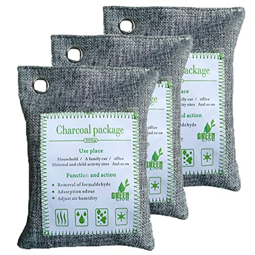Great Price! Air Purifying Bags, Activated Bamboo Charcoal Bags,Natural Freshener,Odor Eliminator Ba...