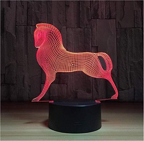 Lumières d'humeur Mignon Coloré Poney Cheval Jouets Petit Poney 3D Illusion Veilleuse Acrylique Veilleuse Bébé Enfants Sommeil Lampe
