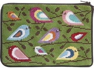 Stitch & Zip Needlepoint Purse/Cosmetic Case-SZ598 Birds of Color