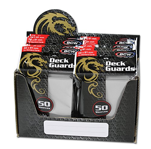 BCW 500 Count Deck Guard WHITE MATTE Finish for Stardard Size Collectable Cards - Deck Protector Sleeves [Display Bundle - 10 Packs]