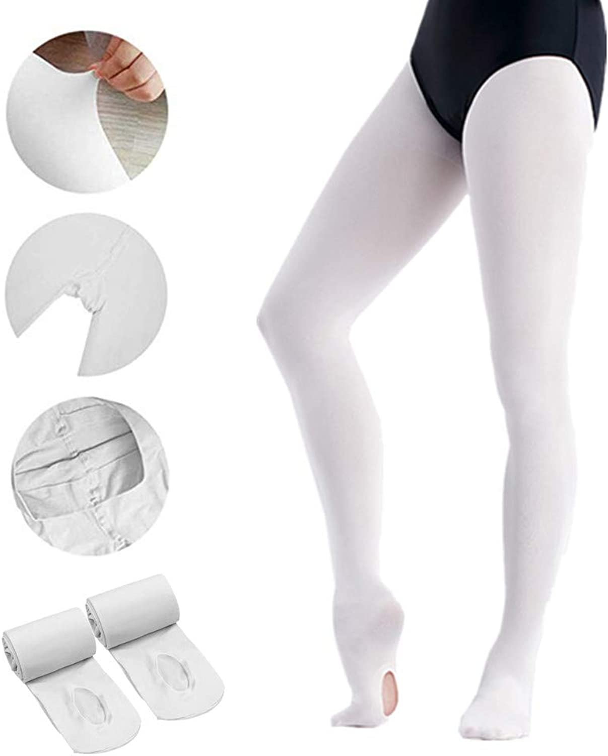 GNEGNI Girls' Ultra Soft Professional Ballet Dance Tight Footed (Toddler Girls  Women)