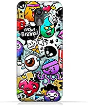 infinix Hot 4 Pro X556 TPU Silicone Protective Case with Bizarre Characters Design