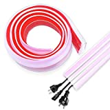 Protector de Cable de Suelo, Canaleta Pasacables para Suelo, Cubiertas de Suelo para Cables Autoadhesiva Perfecto para el Hogar, la Oficina o el Almacén, 1,8m