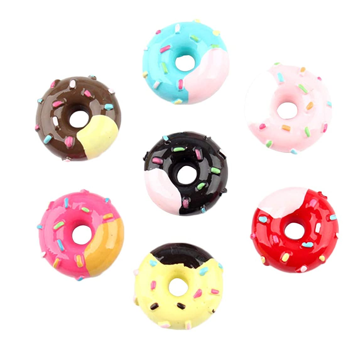 SUPVOX 20 Pcs Resin Flatback cabochons Cream Donut Slime Charms Beads Embellishment DIY Craft Scrapbooking Jewelry Making