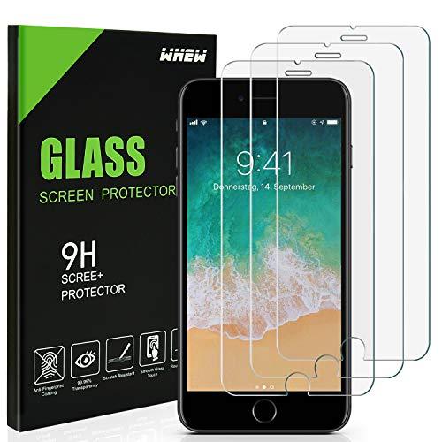 Whew Panzerglas Schutzfolie Kompatibel iPhone SE 2020/7/8,[3 Stück] Panzerglasfolie mit 3D Touch kompatibel, 9H Härte,HD Ultra-Klar Displayschutzfolie Anti-Kratzer,Anti-Fingerprint,Blasenfrei.