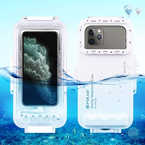 Dmtrab para Video de la foto de la carcasa de buceo impermeable de 45m Tomando la cubierta universal submarina para iPhone 12 Series, iPhone 11 Series, iPhone X Series, iPhone 8 y 7, iPhone 6s, iOS 13
