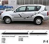 Barres de Protection latérales Noires pour SsangYong Rexton I 1. Generation SUV Kombi à partir de l'année de Construction 2006-2012 F1 (3700001)