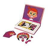 2-EN-1 : avec ce jeu éducatif en forme de livre, votre enfant pourra reconstituer jusqu'à 10 visages différents de petites filles en positionnant les 55 pièces magnétiques selon les cartes modèles inclues, mais également créer une infinité de personn...