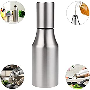 Customer reviews Xuanlan Oil & Vinegar Dispenser, Stainless Steel Oil Pot Bottle Kitchen Storage Container Tools Leak-proof with Pouring Spout (500ML)