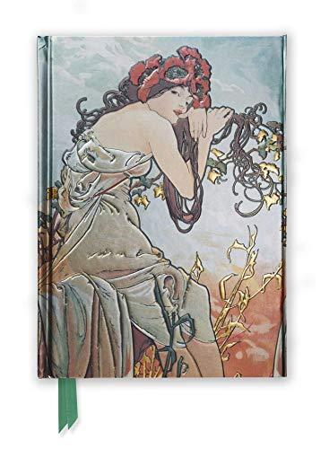 Premium Notizbuch DIN A5: Alphonse Mucha, Sommer: Unser hochwertiges, liniertes Blankbook mit festem, künstlerisch geprägtem Einband und ... DIN A 5 mit Magnetverschluss, Band 15)