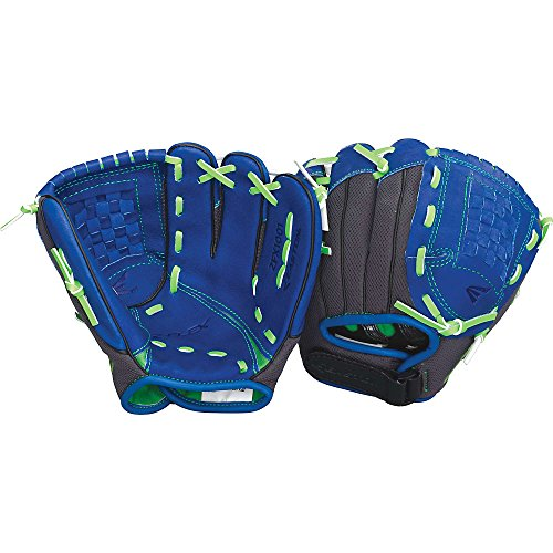 Easton Youth Z-Flex ZFX 1001 Ball Glove (10-Inch), Blue/Green, Right Hand Throw